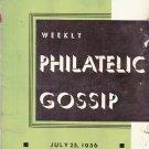 Weekly Philatelic Gossip July 26, 1936 Stamp Collecting Magazine