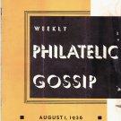 Weekly Philatelic Gossip August 1, 1936 Stamp Collecting Magazine