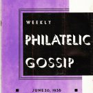 Weekly Philatelic Gossip June 20, 1936 Stamp Collecting Magazine