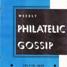 Weekly Philatelic Gossip July 18, 1936 Stamp Collecting Magazine