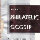 Weekly Philatelic Gossip March 7, 1936 Stamp Collecting Magazine