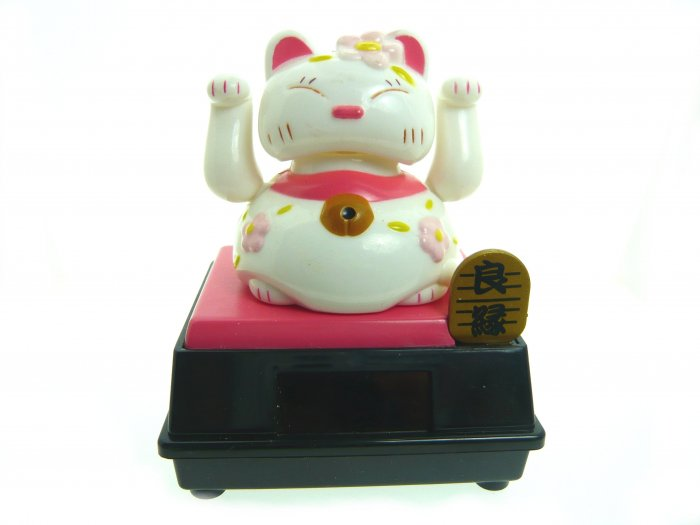 solar power powered shake sway swing lucky cat toy decoration gift