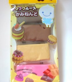 Air dry modelling chocolate brown Japan Fuwa mousse clay miniature cake dessert jewelry decoration