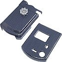 Pantech C300 Transparent Black Shield Protector Case