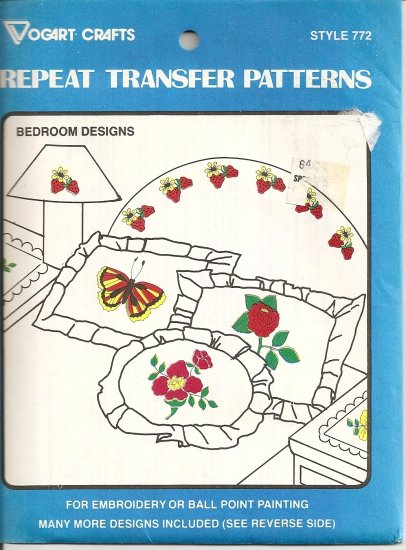 Vintage Vogart Crafts Repeat Transfer Patterns Style 772 - Bedroom Designs