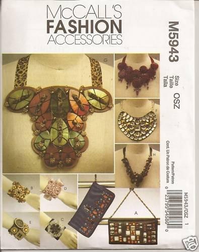 McCall's Fashion Accessories M5943 -Bracelets, Purses,