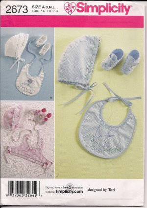 Baby Bonnets & Booties - Simplicity 2673