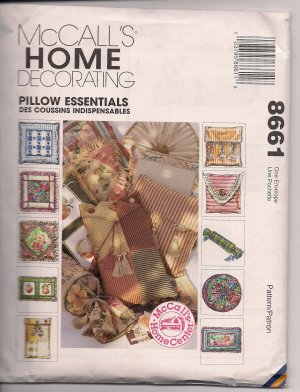 Pillow Essentials - Nice Accents to Home Decor McCalls 8661