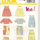 New Look Easy Kids Pattern 6175 - Dress, Jumpsuit/Romper, Top and Pants - New Born to Large