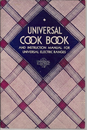 Universal Cook Book - Vintage Cook Book - Soft Cover