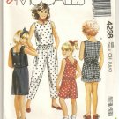 Vintage McCalls 4238 Girls Top,Skirt, Pants & Shorts -Sz. 7, 8, 10