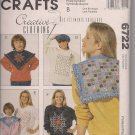 McCalls Crafts 6722 - Snip-Snip Technique for  Cuf Away and Rag Techniques