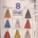 Easy Pattern McCalls 8237 - Girls Sundress - Sz. 7, 8, 10