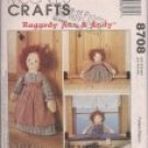 Raggedy Ann and Andy - Draftbusters and Doorstop - Mccalls 8708
