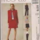McCalls 9378 - Misses Jacket, Pants, & Skirt -Sz. 8, 10, 12