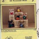 MR. TEDDY ALL SEASONAL BEAR - BEE HIVE DESIGNS - VINTAGE PATTERN