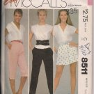 Pants, Capris and Shorts - McCalls 8511 - Sz. Small - Vintage