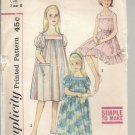 Girls Muumuu or Nightgown, Vintage Simplicity 3938, Size 8