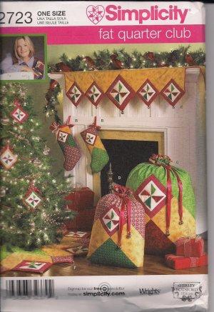 Shirley Potsford Fat Quarters Cl;ub - Simplicity 2723 Decorations