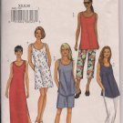 Butterick Top, Dress, Shorts and Pants - Sz. XS, S, M - Petitable