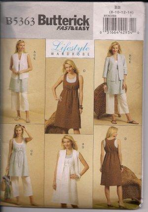 Lifestyle Wardrobe - Easy Separates - Butterick B5363 - Szs. 8-12