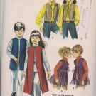 Vintage Simplicity 9135 Boys and Girls Set of Vests - Sz. 12 - 1970s