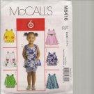 Toddlers Tops, Dresses, Shorts -McCalls M5416 - Sz. 1-,4