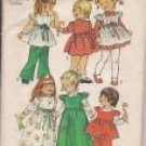 Toddlers Dress and Smock - Vintage Simplicity 5993 - Size 1