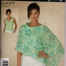 Simplicity 4676 So Easy Misses Top Sz. 6-16 and Poncho Sz. 6-12