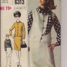 Vintage Simplicity 6313 Misses Suit, Overblouse, Scarf - Vintage Size 16 -