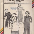Vintage Stretch & Sew 874 Children's Pull-On Pants, Shorts, Overalls - Hip Sz. 22 - 28