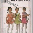 Darling Little Girls Knit Dress and Purse - Simplicity 7493 - Sz. 5-8