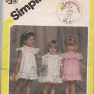 Popovers Simplicity 6352 Toddlers Dress and Panties - Sz. Small-Large