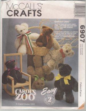 McCalls Crafts 6907 - Stufed bear, Lambs, Bunnies