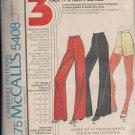 Vintage McCalls Carefree 5488 Misses Pants Shorts Sz 6810
