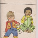 Vintage Butterick 4484 Infants Vest, Overalls, Booties -Size Medium