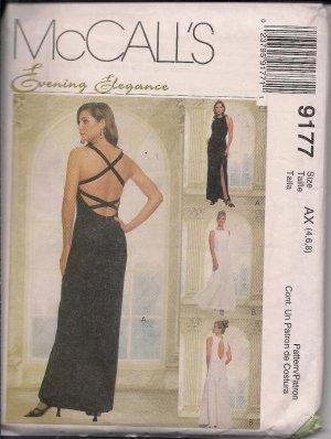 Prom, Wedding, Gala - McCall's Evening Elegance 9177 Misses Gown/Dress Sz. 4,6,8