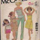 Vintage McCalls Carefree pattern 6621Girls Dress or Top  Sz. 8