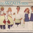 1977 Vintage McCalls  5826 Mens & Womens Apron
