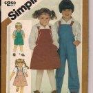 Vintage Simplicity 6228 Childs Overalls, Sundress, Jumper, Shirt - Sz. 4