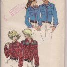Vintage Simplicity 9923 Western Shirts for Men - Size Large, Chest 42-44