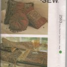 Accessories for the Home -Kwik Sew Pattern 2563 - Pillows, Runners, Placemats,