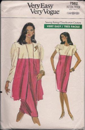 Very Easy Very Vogue Misses & Misses Petite Jacket Dress Sz. 14-16