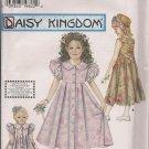 "Simplicity 7550 Daisy Kingdom Girls Dress Sz. 7, 8, 10, 12 & Matching Dress for 17"" doll"