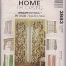 McCalls 3983 WIndo Essentials - Pattern for Window Coverings/Treatments