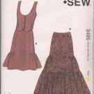 Kwik Sew 3495 - Misses Vest &  Tiered Skirt - Western-Style  -XS-XL