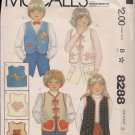 Out of Print McCalls 8288  Childrens Vest with Appliques Sz. 5
