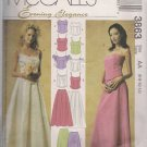 McCalls 3863 Misses Formal Separates Sz. 6, 8, 10, 12 Wedding Prom Dress Pattern Bustier Skirt