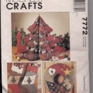 McCalls 7772 Christmas Patterns - Tree, Wreath, Tree Skirt, Stocking and More