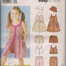 Easy to Sew Simplicity 5540 Girls Dress, Hat, Shorts, Pants, Dress Sz. 3 to 8